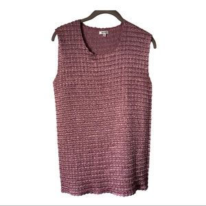 Nicola Tank Blouse with Stretch Bubble Crinkle XL